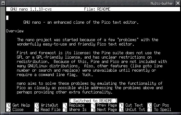example image of nano editor layout